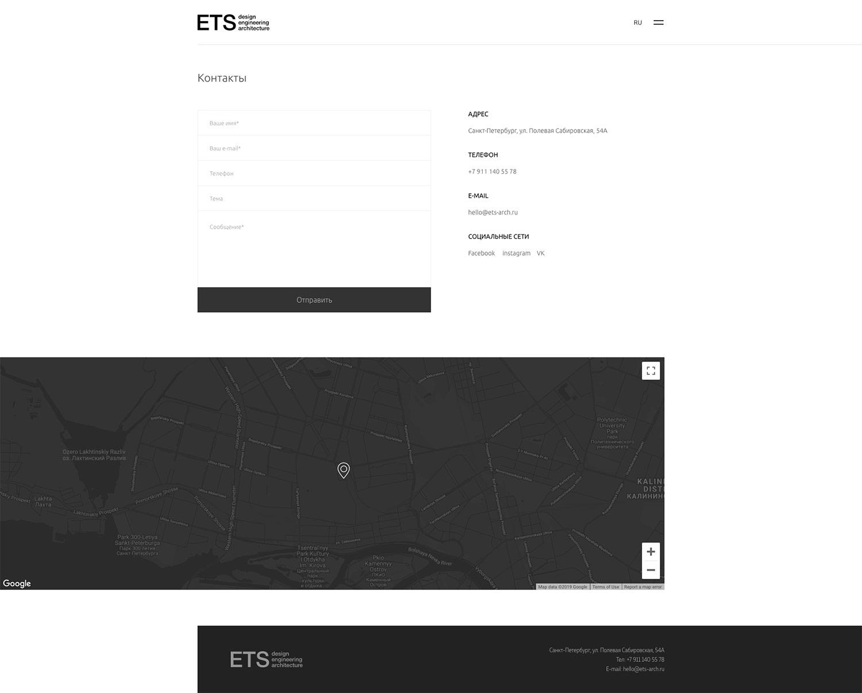Сайт для архитектурного агентства